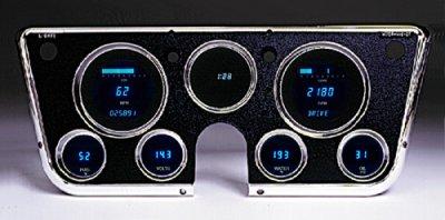 1967-1972 Digital Gauge Set with Clock